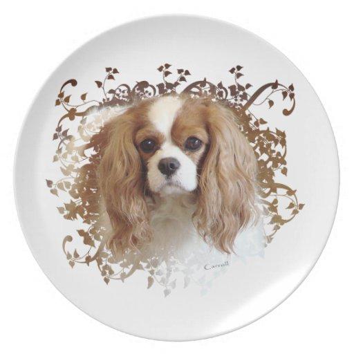 騎士|王|チャールズ|スパニエル犬 パーティー皿