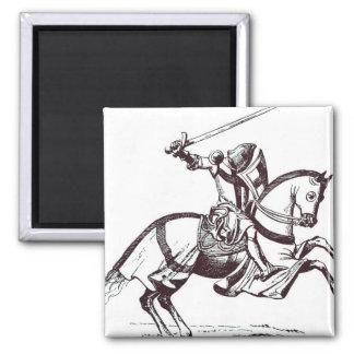 騎士Templarのイラストレーション マグネット