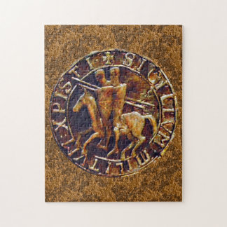 騎士Templarの中世シール ジグソーパズル