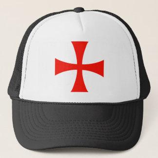 騎士Templarの十字の赤 キャップ