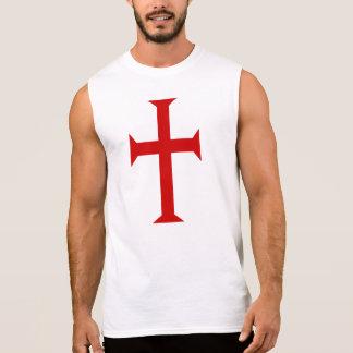 騎士Templarの十字 袖なしシャツ
