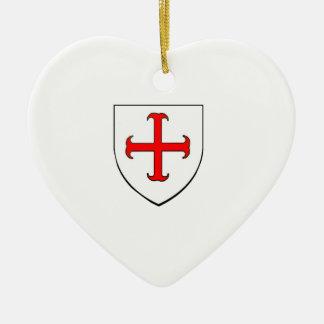 騎士Templarの改革運動の盾 セラミックオーナメント