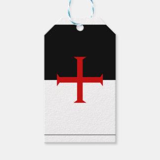騎士Templarの旗 ギフトタグ