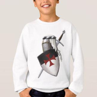 騎士Templarの盾 スウェットシャツ