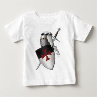 騎士Templarの盾 ベビーTシャツ