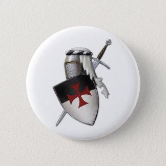 騎士Templarの盾 5.7cm 丸型バッジ