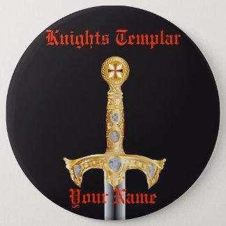 騎士Templarボタン 15.2cm 丸型バッジ