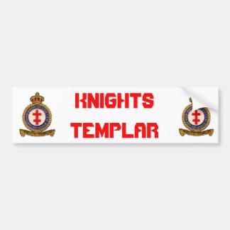 騎士TEMPLAR バンパーステッカー