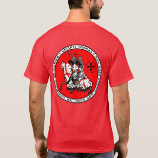 騎士Templar 2の騎士シールのワイシャツV1 Tシャツ