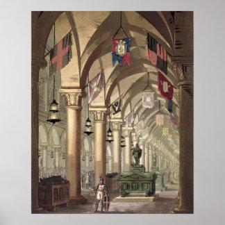 騎士Templar、c.1820-39 (アクアチント)の墓 ポスター