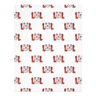 騒々しいパターンを笑わせるおもしろいなEmoji レターヘッド