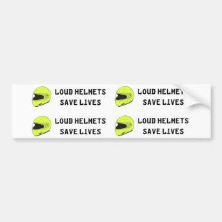 騒々しいヘルメットの保存の生命 バンパーステッカー