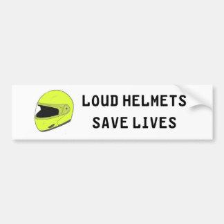 騒々しいヘルメットは生命を救います バンパーステッカー