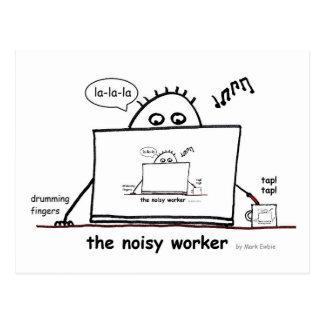騒々しい労働者 ポストカード