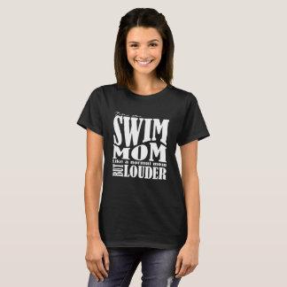 騒々しい水泳のお母さん- Tシャツ-女性の切口 Tシャツ