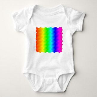 騒々しい虹 ベビーボディスーツ