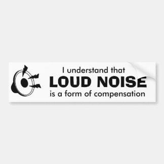 騒々しい音楽 バンパーステッカー