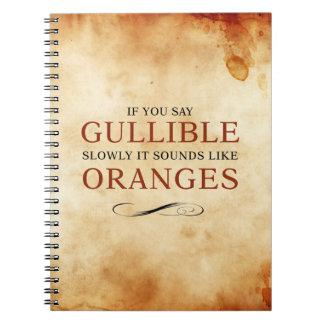 騙されやすいゆっくり言えば、オレンジのような音がします ノートブック