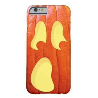 驚かされたカボチャハロウィーンのカボチャのちょうちんはハロウィンに直面します BARELY THERE iPhone 6 ケース