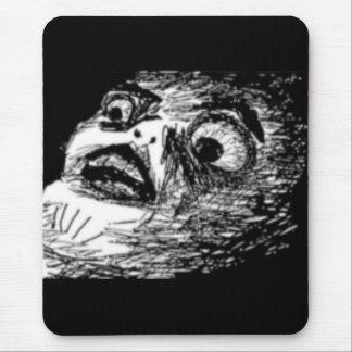 驚かされた喜劇的な顔 マウスパッド