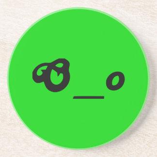 驚かされた心配したOの下線oの文字は顔を感情を表に出します コースター