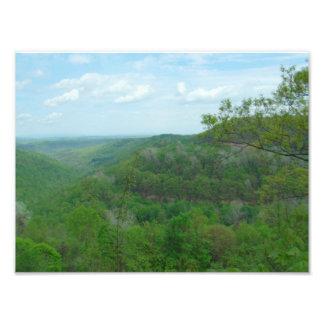 驚かせるウェストヴァージニアの山景色 フォトプリント