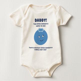 驚きのお父さん! 新生児(ブルーベリー)の期待! ベビーボディスーツ