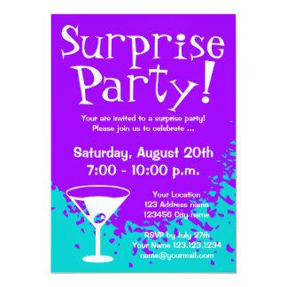驚きのパーティの招待状|のカスタムの招待 カード