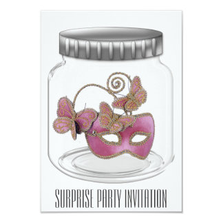 驚きのパーティの招待状 カード
