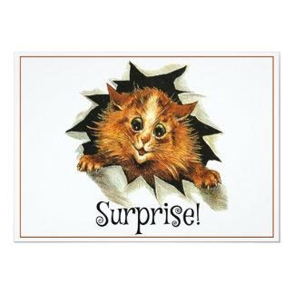 驚きのパーティの招待状、ルイWain猫カード カード