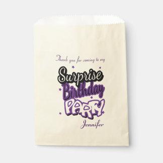 驚きの誕生会|の紫色ありがとう フェイバーバッグ