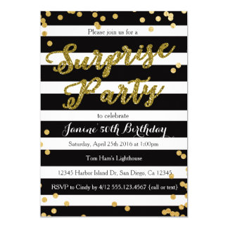 驚きの誕生日のパーティの招待状 カード