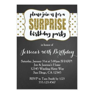驚きの誕生日の招待状 カード