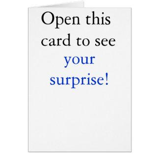 驚き カード