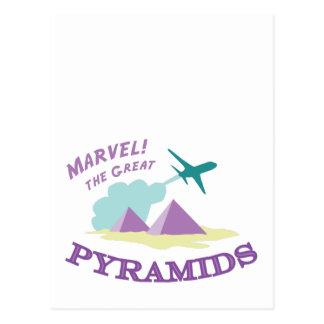 驚嘆! 素晴らしいピラミッド ポストカード
