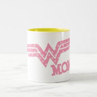 驚異のお母さんのピンク ツートーンマグカップ