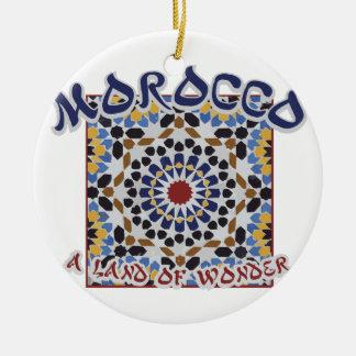 驚異のモロッコの土地 セラミックオーナメント