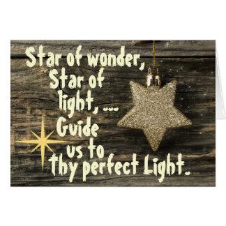 驚異の挨拶状のクリスマスキャロルの星 グリーティングカード