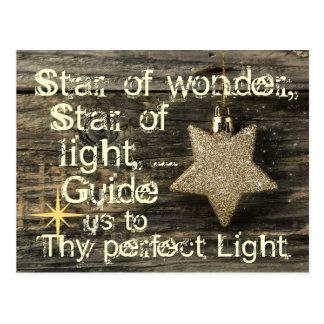驚異の郵便はがきのクリスマスキャロルの星 ポストカード