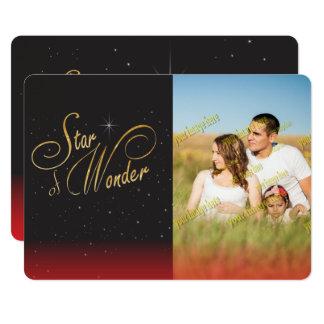 驚異の黒のゴシック様式クリスマスの写真のおもしろいの星 カード