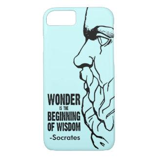 驚異は知恵- Socratesの引用文の始めです iPhone 8/7ケース
