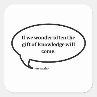 驚異(アラパホー族の知恵) スクエアシール