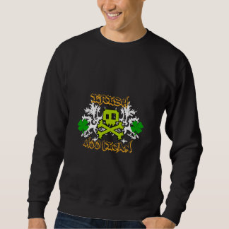 骨が交差した図形の黒のアイルランドの不良 スウェットシャツ