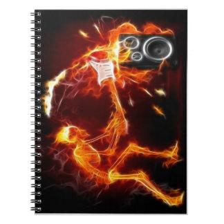 骨のノートへの悪い状態 ノートブック