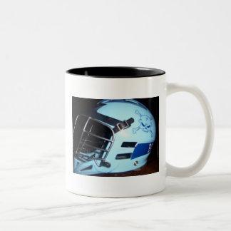 骨のヘルメットのマグ ツートーンマグカップ