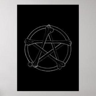 骨の星形五角形 ポスター