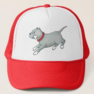 骨を搭載する連続したピットブル犬-帽子をカスタマイズ キャップ
