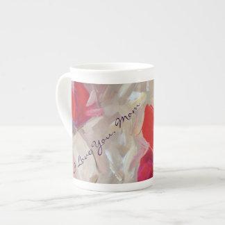 骨灰磁器のマグの花の印象派の芸術 ティーカップ