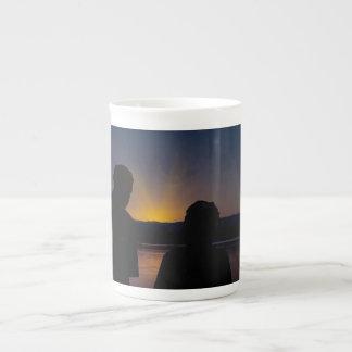 骨灰磁器の日没のカップル、 ボーンチャイナカップ