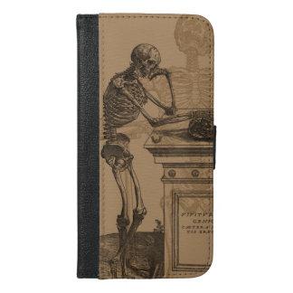 骨組および死 iPhone 6/6S PLUS ウォレットケース